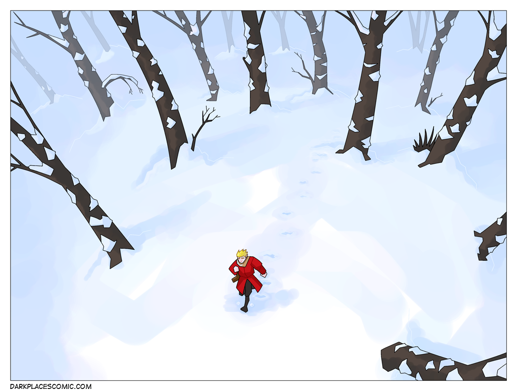 The Bog Witch: Snowy forest.